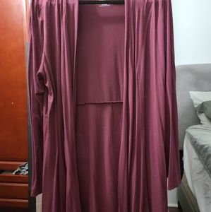 Open long sleeved cardigan